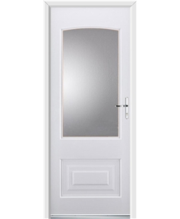 Ultimate Portland Rockdoor in White with Glazing
