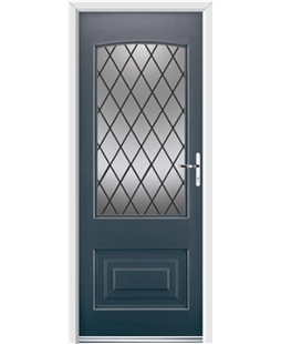 Ultimate Portland Rockdoor in Anthracite Grey with Diamond Lead