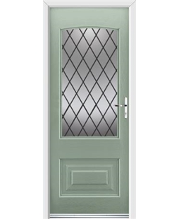 Ultimate Portland Rockdoor in Chartwell Green with Diamond Lead