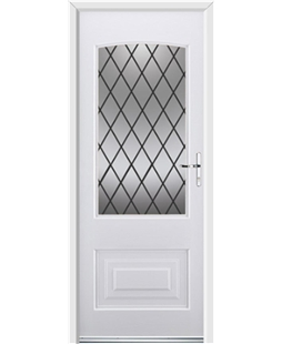 Ultimate Portland Rockdoor in White with Diamond Lead