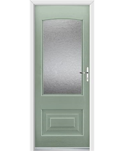Ultimate Portland Rockdoor in Chartwell Green with Gluechip Glazing