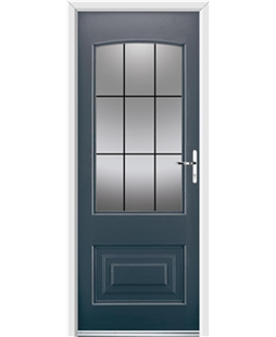 Ultimate Portland Rockdoor in Anthracite Grey with Square Lead