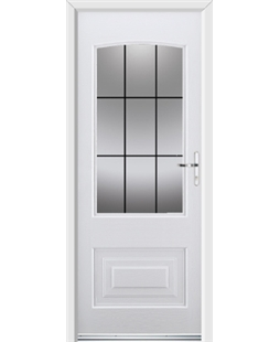 Ultimate Portland Rockdoor in Blue White with Square Lead
