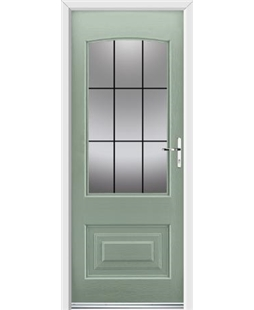 Ultimate Portland Rockdoor in Chartwell Green with Square Lead