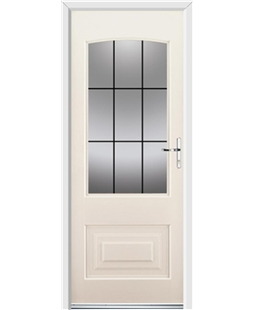 Ultimate Portland Rockdoor in Cream with Square Lead