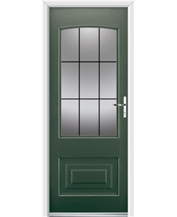 Ultimate Portland Rockdoor in Emerald Green with Square Lead