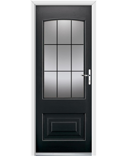 Ultimate Portland Rockdoor in Onyx Black with Square Lead