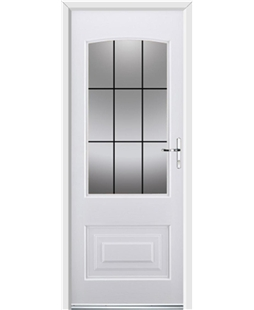 Ultimate Portland Rockdoor in White with Square Lead