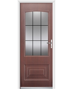 Ultimate Portland Rockdoor in Rosewood with Square Lead