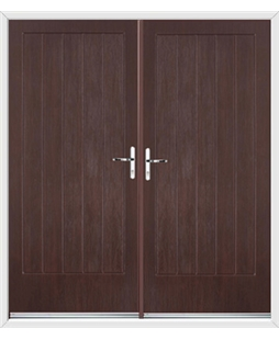 Indiana French Rockdoor in Rosewood