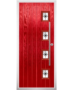The Norwich Composite Door in Red with Black Fusion Ellipse