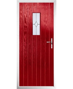 The Taunton Composite Door in Red with Classic Glazing