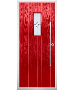 The Zetland Composite Door in Red with Classic Glazing