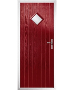 The Reading Composite Door in Red with Glazing