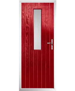 The Sheffield Composite Door in Red with Glazing