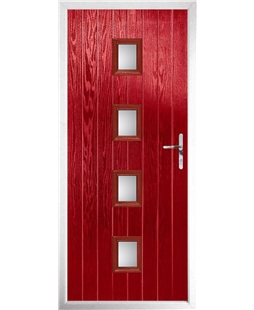 The Uttoxeter Composite Door in Red with Glazing