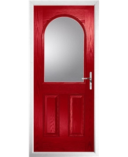 The Edinburgh Composite Door in Red with Clear Glazing