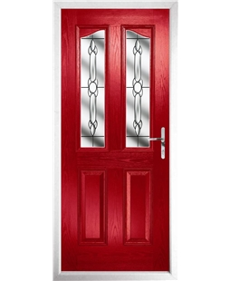 The Birmingham Composite Door in Red with Crystal Bohemia
