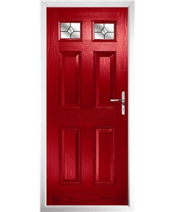 The Ipswich Composite Door in Red with Crystal Bohemia
