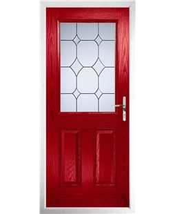 The Farnborough Composite Door in Red with Crystal Diamond