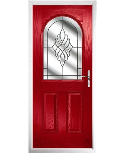 The Edinburgh Composite Door in Red with Crystal Eternity