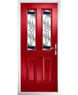 The Aberdeen Composite Door in Red with Blue Crystal Harmony