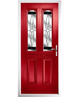 The Aberdeen Composite Door in Red with Black Crystal Harmony