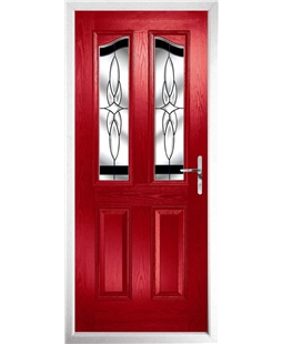 The Birmingham Composite Door in Red with Black Crystal Harmony