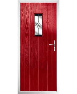 The Taunton Composite Door in Red with Black Crystal Harmony