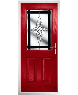 The Farnborough Composite Door in Red with Black Crystal Harmony