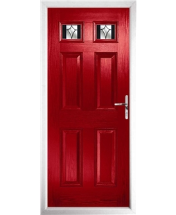 The Ipswich Composite Door in Red with Black Crystal Harmony