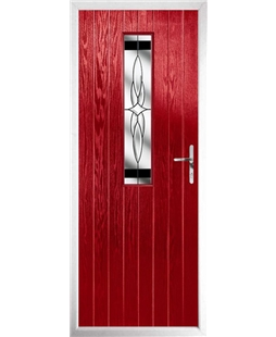 The Sheffield Composite Door in Red with Black Crystal Harmony