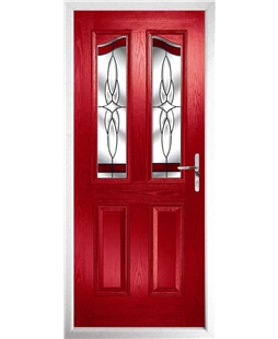 The Birmingham Composite Door in Red with Red Crystal Harmony