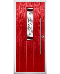 The York Composite Door in Red with Red Crystal Harmony