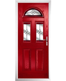 The Glasgow Composite Door in Red with Red Crystal Harmony
