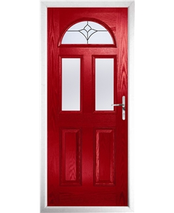 The Glasgow Composite Door in Red with Crystal Tulip Arch