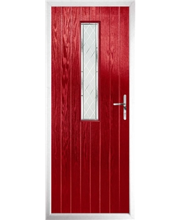 The Sheffield Composite Door in Red with Diamond Cut