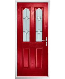 The Aberdeen Composite Door in Red with Classic Glazing