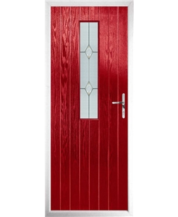 The Sheffield Composite Door in Red with Classic Glazing