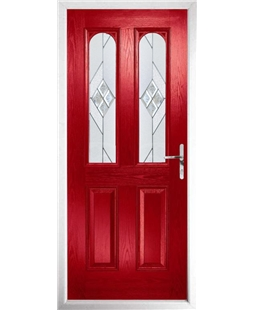 The Aberdeen Composite Door in Red with Eclipse Glazing