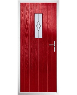 The Taunton Composite Door in Red with Finesse Glazing