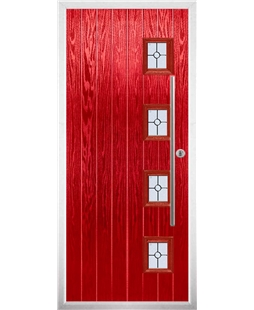 The Norwich Composite Door in Red with Finesse Glazing