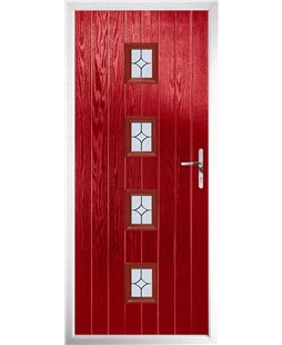The Uttoxeter Composite Door in Red with Flair Glazing