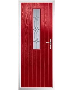 The Sheffield Composite Door in Red with Flair Glazing