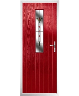 The Sheffield Composite Door in Red with Fleur