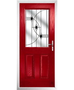The Farnborough Composite Door in Red with Black Fusion Ellipse