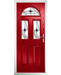 The Glasgow Composite Door in Red with Black Fusion Ellipse
