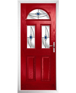 The Glasgow Composite Door in Red with Blue Fusion Ellipse