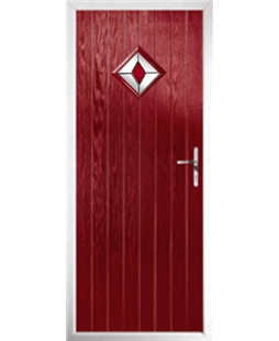 The Reading Composite Door in Red with Red Diamond
