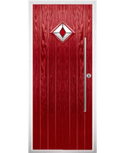 The Wolverhampton Composite Door in Red with Red Diamond